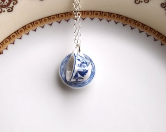cup and saucer necklace
