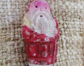 Vintage 1930's Early Japanese Santa Figural Christmas Light