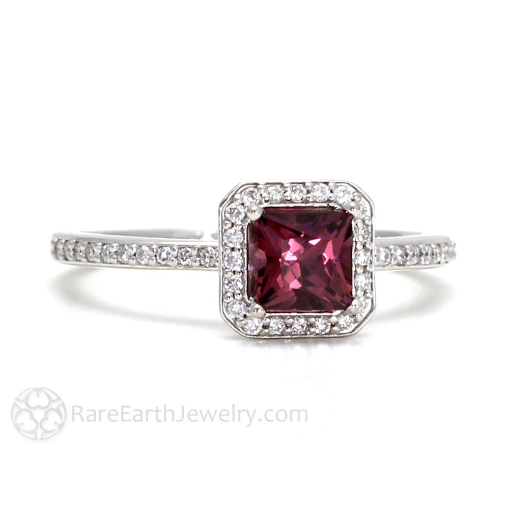Garnet Bands: Garnet Engagement Ring Rhodolite Garnet Ring January