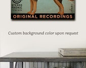 Australian Kelpie Records music Company graphic illustration on gallery wrapped canvas by stephen fowler