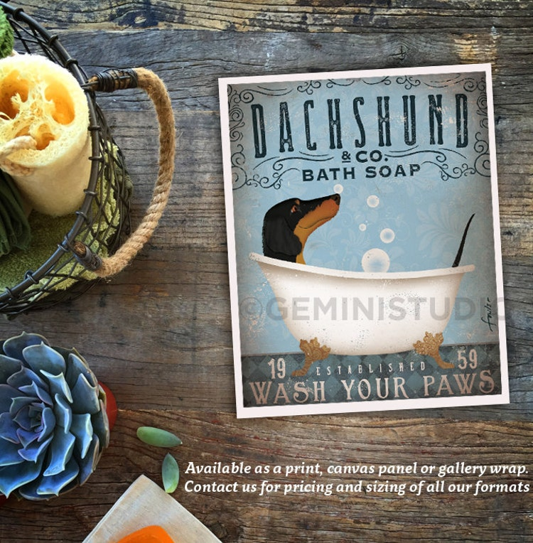 Dachshund Dog Bath Soap Company Vintage Style By Geministudio