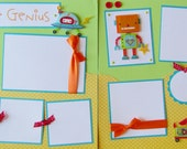 LITTLE GENIUS 12x12 Premade Scrapbook Pages -- RoBoTS