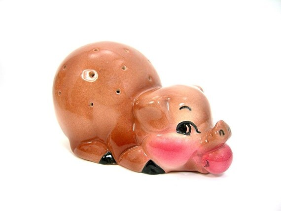 Ceramic pig canape holder toothpicks ranchhouse farm decor for Canape holders