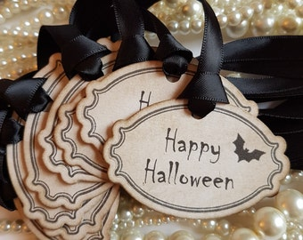 Halloween Tags, Happy Halloween, Treat Bag Tags, Halloween Wedding, Gothic Wedding, Bat Wedding, Sweet Tags, Candy bar labels