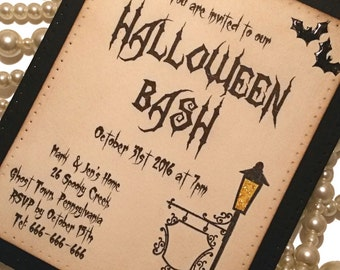 Halloween Invitations, Halloween Party, Party Invites, Free Gift, Spooky Invitations, Bat Invites, Halloween Tags, Halloween Favors