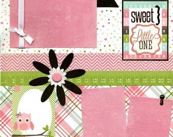 Sweet Little One - 12x12 Premade Baby Scrapbook Page