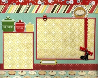 Baking Day - Premade Scrapbook Page