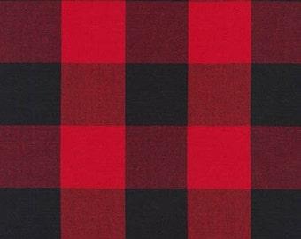 "Plaid Fabric, Apparel Fabric, DIY Plaid Scarf fabric, Carolina Gingham Fabric by Robert Kaufman, Buffalo Plaid, Plaid Scarf, 2""Gingham"
