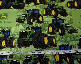 John Deere Green Tractor Havester Fabric -  2 yards