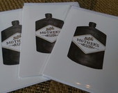 Mother's Ruin (3 x greetings cards)