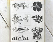 Stampin Up Do The Hula Stamp Set Retired SU Uncut FREE SHIPPING