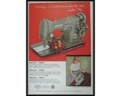 Necchi Sewing Machine 3/4 Page Vintage Advertising Wall Art Decor E119