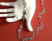 Reserved Long Layering Delicate Silver Chain Necklace