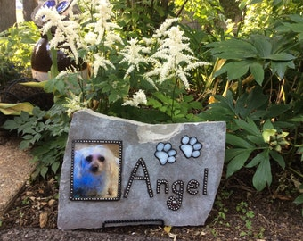 Custom Pet Memorial Stone with your pet's picture