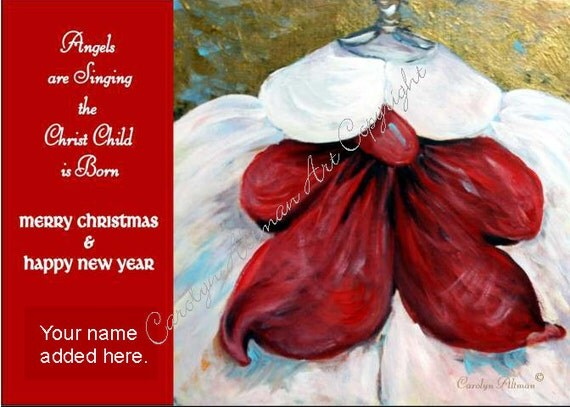 Angels are Singing Christmas Cards  Package of 20