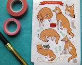 Little Fox Dog Sticker Sheet