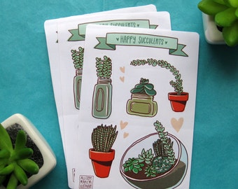 Happy Succulents Sticker Sheet