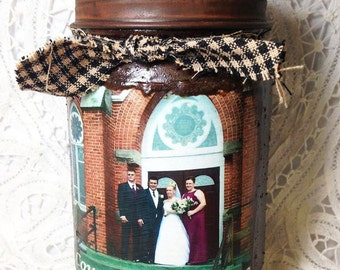 Jar Candle grungy blackberry sage country wedding 1 pint Moeggenborg Sugar Bush