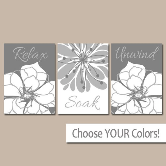Https Www Etsy Com Listing 128716139 Gray Bathroom Wall Art Canvas Or Prints