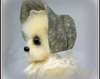 Lucinda – Artist Teddy Bear, Handmade, Stuffed Animal, Toy, OOAK, Made in Alaska