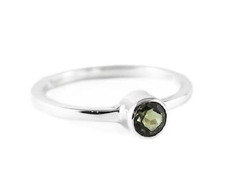 Tourmaline Gold Ring Delicate Womens Rings October Birthstone