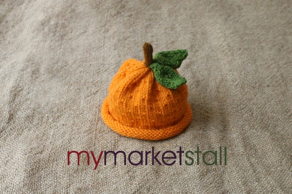 Valencia Orange Hat - 0 - 3 Months - Adult Sizes -  Ready to Ship