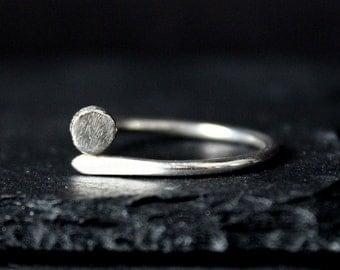 Nail Nailhead Sterling Silver Ring / Minimalist Rustic Bohemian Jewelry / Gugma Women's Men's Unisex Handmade Jewelry