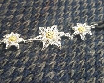 Edelweiss - Silver Filigree Bracelet