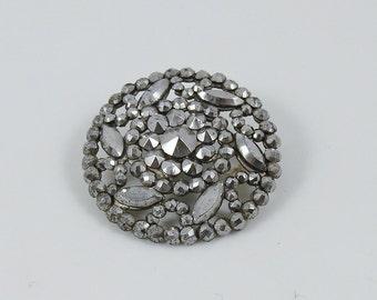 Antique Large Riveted Cut Steel Button