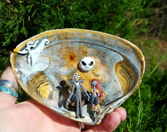 Nightmare before Christmas in a Seashell scene decoration