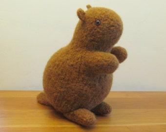 Plush Groundhog, Woodchuck Stuffed Animal, Natural Brown. Handmade Stuffed Animals by FeltedFriends