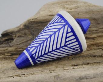 Alive Glass -  Sandstone / Lapis -  Sharp Pendulum