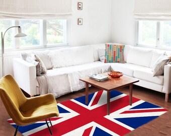 Area Rugs, Union jack rug, British rug, UK rug, UK carpet, Decorative Rug, England rug, living room decor, contemporary decor
