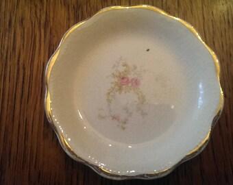 Vintage Pink Floral Butter Pat