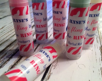 Lip Balm,  Bachelorette Party Favors, Last Fling Before the Ring Personalized Bridesmaid Gift
