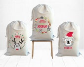 Kids Personalised Christmas Santa Sack