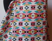 Nursing Cover- Aztec Fresh   Organic Cotton   Second Item Ships Free