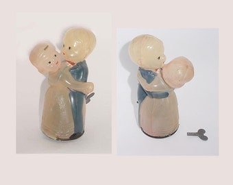Antique - Windup -  Celluloid Dancers - Japan Toy Windup - Cute One