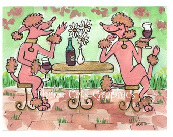A Friendly Glass of Claret- Choose from ACEO Print, Note Cards, or Art Print