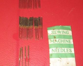 44 Vintage Round Sewing Machine Needles Stamped 11 - Singer?