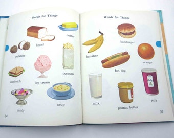 My Little Pictionary Vintage 1960s Children's Book by Marion Monroe and W. Cabell Greet
