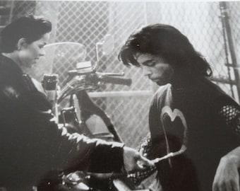 "1990 Graffiti Bridge Production Photograph, Black & White Photo, ""Prince"", Ingrid Chavez ""Aura"" Musical Drama, Photo by Jeff Katz"