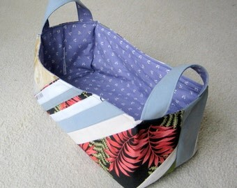 Rectangular Fabric Basket Organizer - roughly 15x7x7