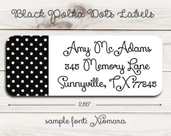 Polka Dots Return Address Labels
