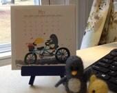2016 Mini Desktop Calendar W/Stand - Penguin & Peep!