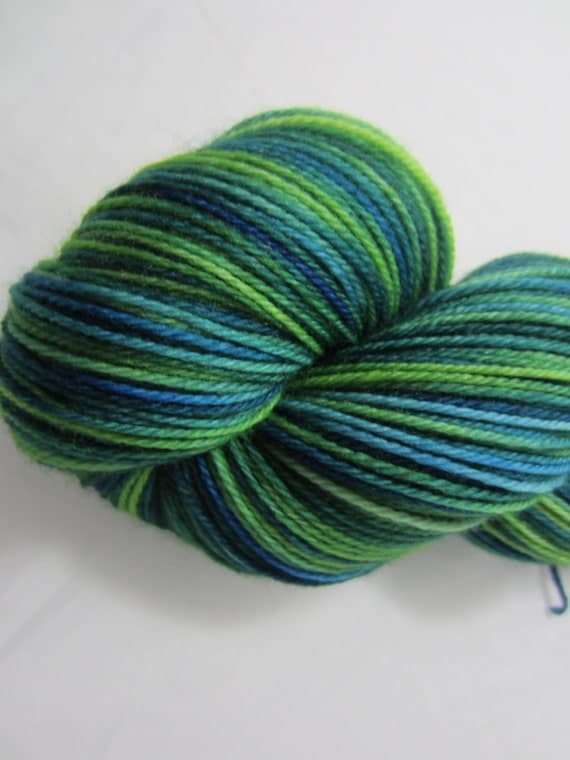 Ocean Wishes - Dyed to Order - Hand Dyed - Merino Wool Yarn - Fingering Weight