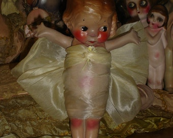 Rare Esther Chalkware Doll 1920s Carnival Kewpie Dolly Dingle ?
