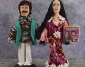Sonny Bono and Cher Fan Art Doll Miniatures Pop Music Seventies