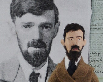 D.H. Lawrence Doll Author and Writer Miniature Art