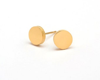Round Stainless Steel Golden Earring Post Finding (EE182)